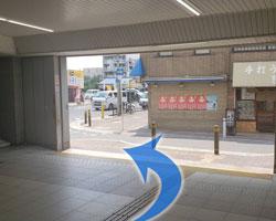 鴻池新田駅からの道順2