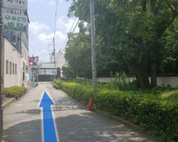 鴻池新田駅からの道順6