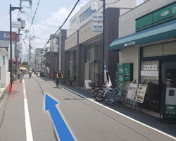 鴻池新田駅からの道順8