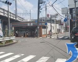 鴻池新田駅からの道順7