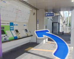JR河内永和駅からの道順3