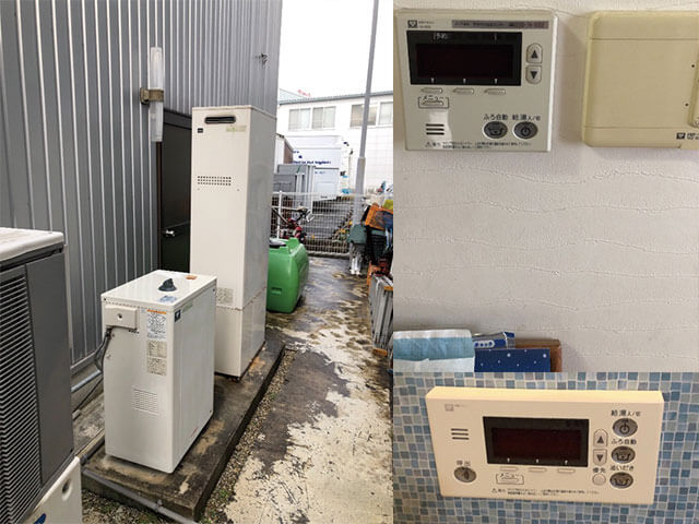 橿原市でエコウィルからハイブリッド給湯暖房機に取替え