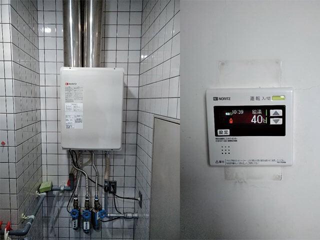 阿倍野区で業務用給湯器取替え