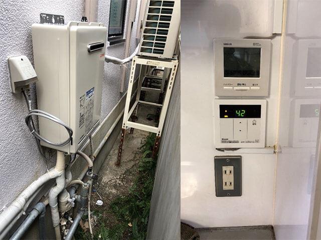 神戸市灘区で業務用給湯器取替え