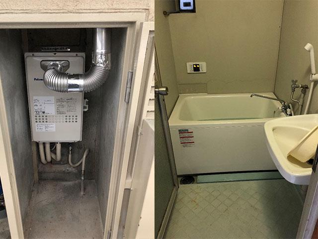 平野区で団地風呂浴槽セット設置