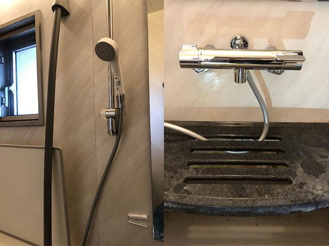茨木市で浴室水栓取替え