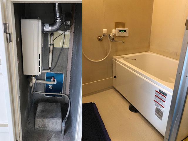 門真市で団地風呂浴槽セット設置