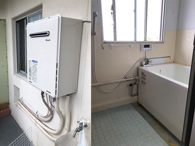 大津市で団地風呂浴槽セット交換
