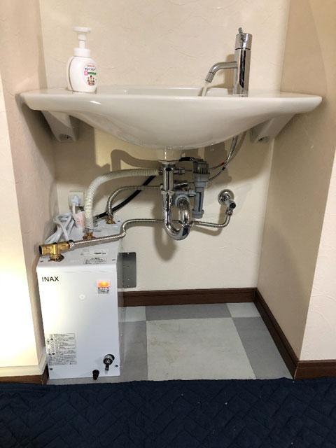 東大阪市で小型電気温水器設置