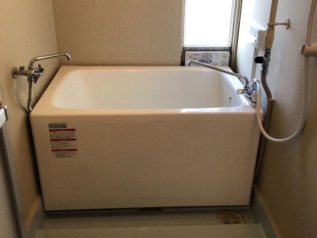 大東市で団地風呂浴槽セット設置