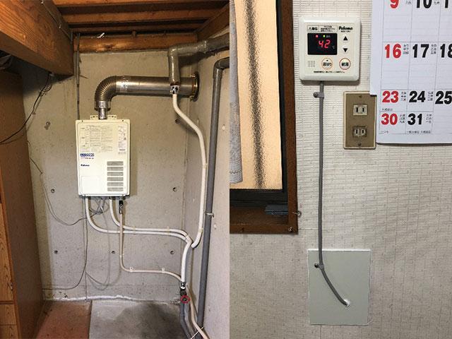 旭区で屋内式給湯器交換