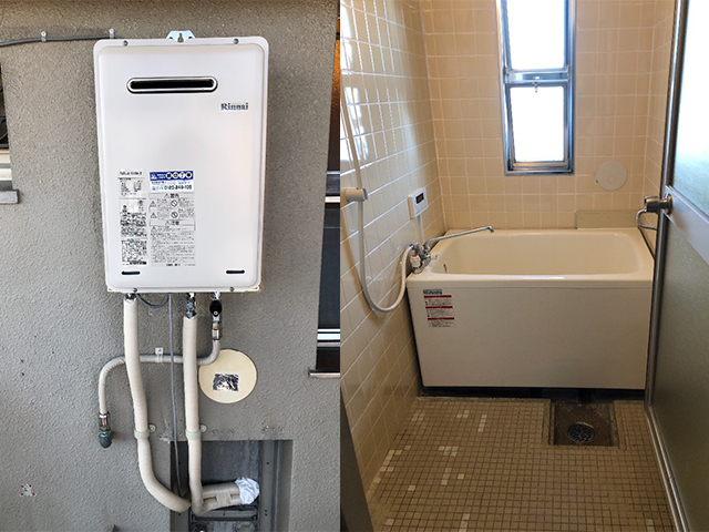 鶴見区で団地風呂浴槽セット設置