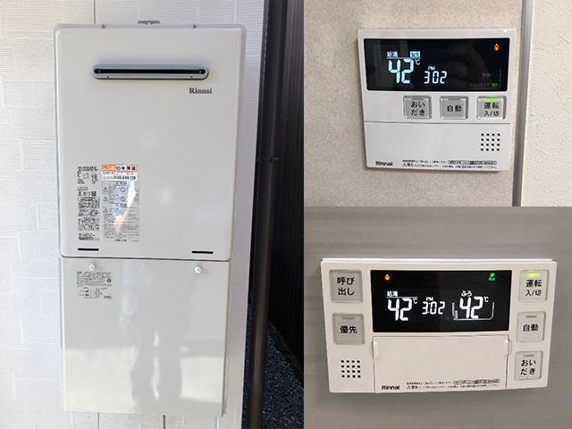 東大阪市で屋外式給湯器交換