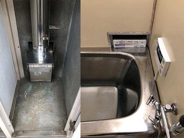 富田林市で壁貫通型給湯器交換