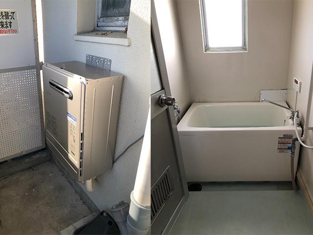 桜井市で団地風呂浴槽セット設置