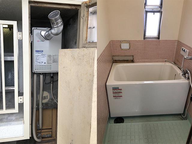 旭区で団地風呂浴槽セット設置